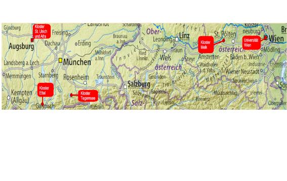 Österreich Übersichtskarte, geändert