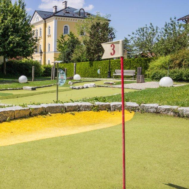 Spielgolfplatz im Kurgarten in Tegernsee, © Medius Tegernsee