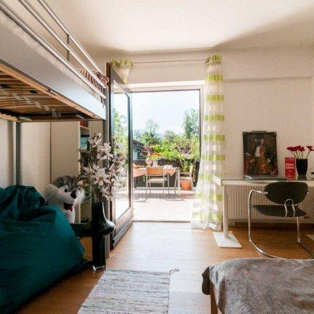 2. Schlafzimmer mit zusätzl. Hochbett und Terrassenausgang, © im-web.de/ Tourist-Information Gmund am Tegernsee