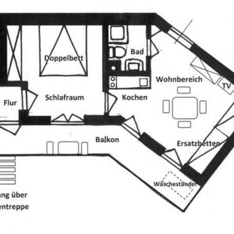 Grundriss der Ferienwohnung, © im-web.de/ Tourist Information Tegernsee