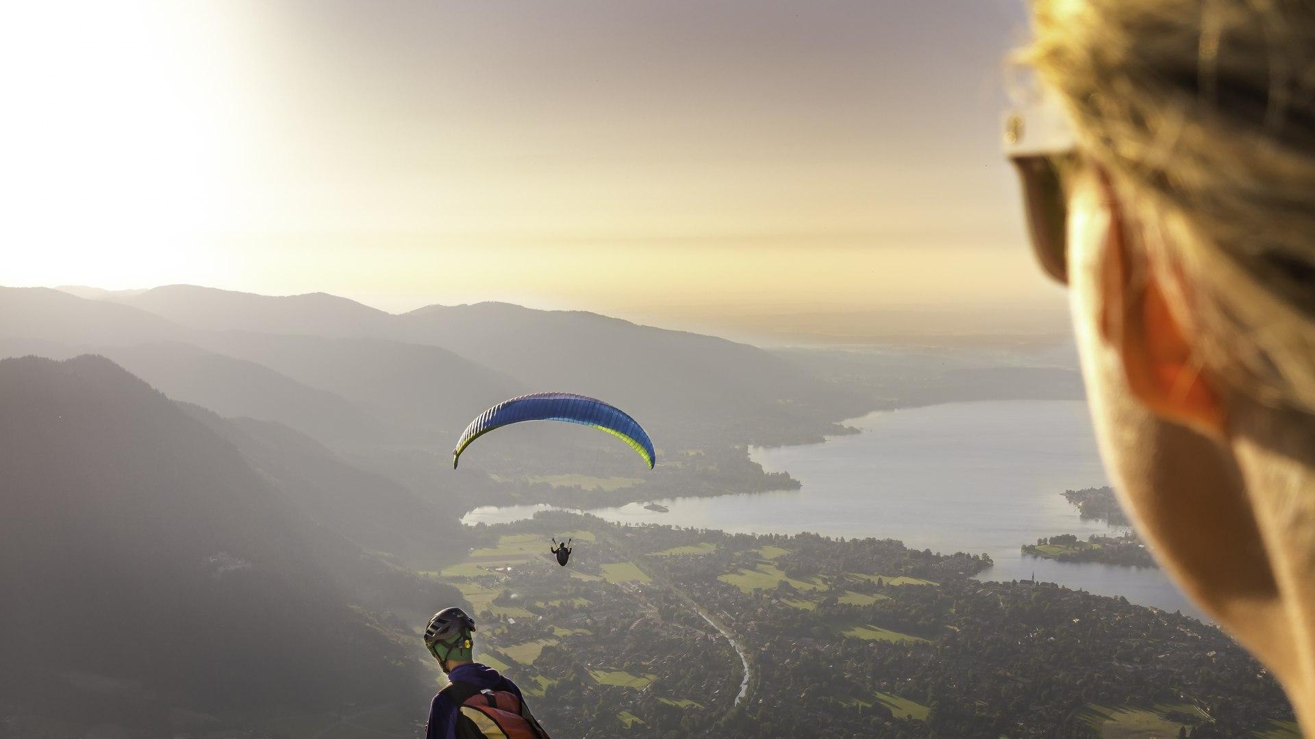 View from paragliding, © Der Tegernsee, Dietmar Denger