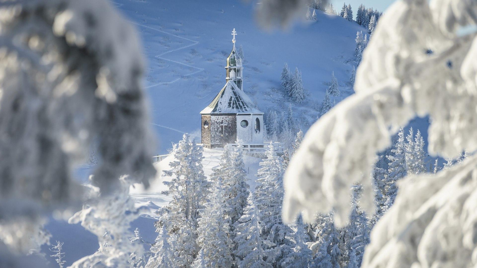 Das Wallbergkircherl im Winter, © Dietmar Denger
