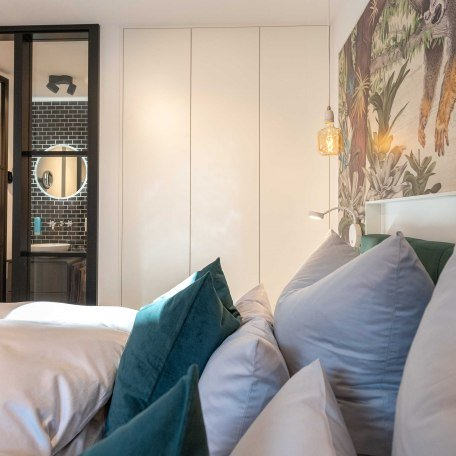 Schlafzimmer mit Bad ensuite, © Claus Uhlendorf