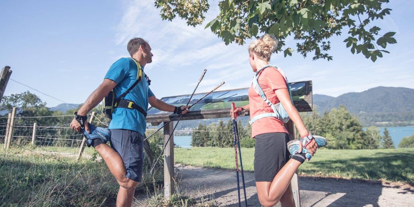 Auch vor der Nordic Walking Runde sollten Sie sich gut aufwärmen., © Hansi Heckmair