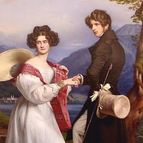 Joseph Karl Stieler Verlobung , © Der Tegernsee