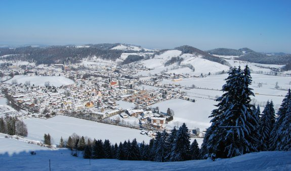 Geräumte Winterwanderung vom Parkplatz Huberspitz zur Gindelalm und zur Huberspitz, © Thorsten Schär