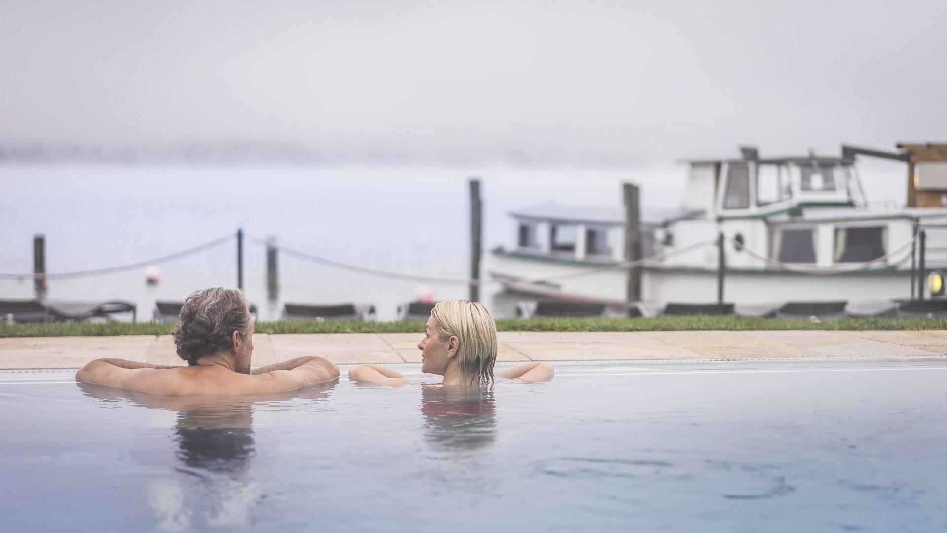Entspannen im Pool der Seesauna, © Dietmar Denger