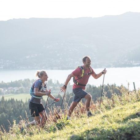 Beim Nordic Walking am Tegernsee kann es am Berg auch mal anspruchsvoll werden., © Hansi Heckmair