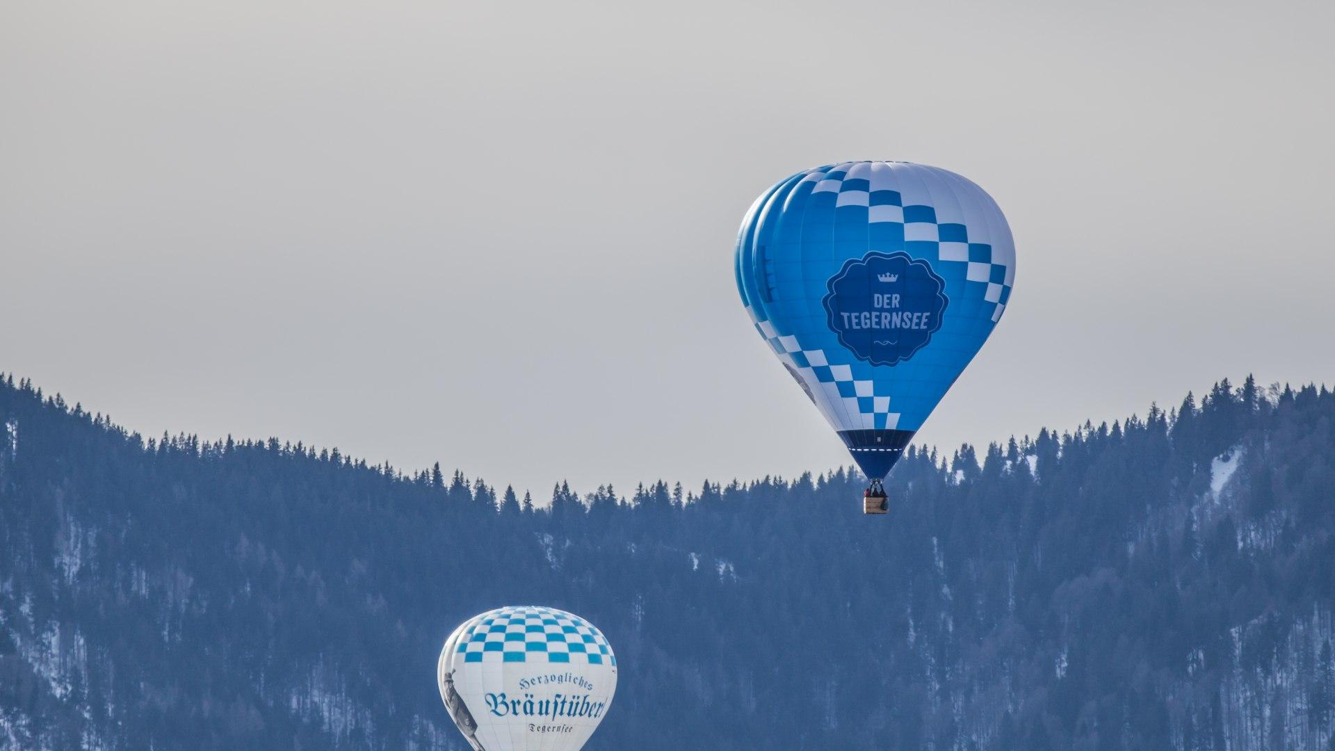 Ballonfahrt über dem Tegernsee, © Christoph Schempershofe