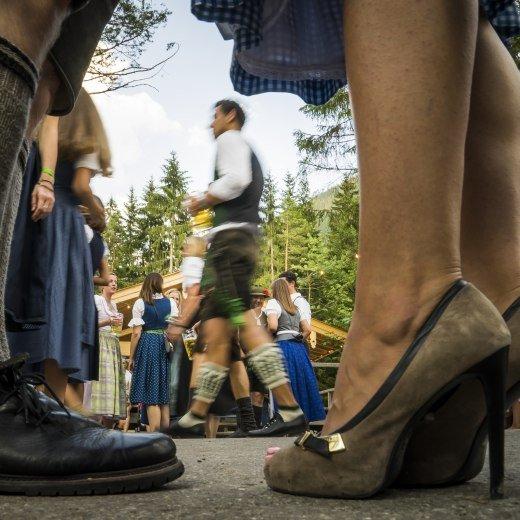 Besonderer Blickwinkel auf das Waldfest, © Dietmar Denger