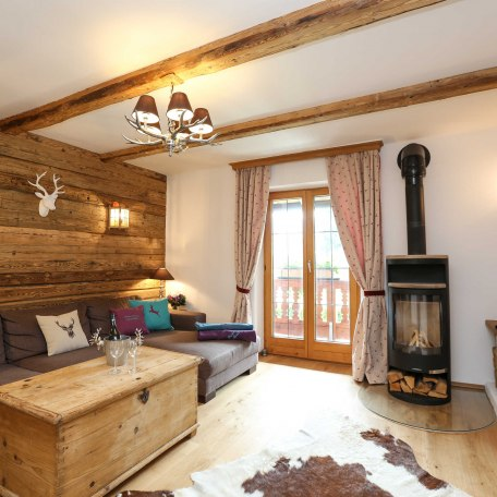Rustikales mit Altholz ausgebautes Wohnzimmer, © im-web.de/ Alpenregion Tegernsee Schliersee Kommunalunternehmen