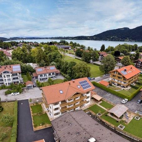 Drohnenaufnahme mit Nähe zum See, © im-web.de/ Alpenregion Tegernsee Schliersee Kommunalunternehmen