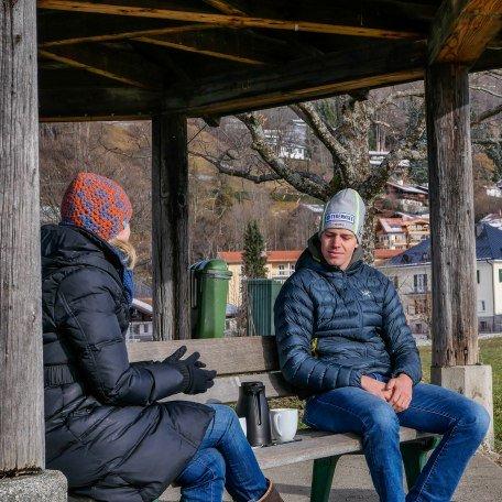 Ines Wagner im Gespärch mit dem Rottacher Skirennfahrer Anton Tremmel, © DER TEGERNSEE, Isabelle Munstermann