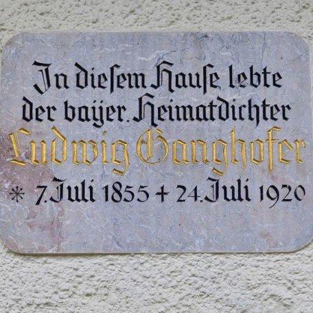 Gedenktafel Ganghofer-Haus, © ©Petra Kurbjuhn